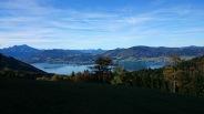 Blick auf den Attersee vom Gupf (948m)
